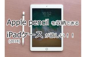 iPad 9.7(第6世代)とApple Pencilを一緒に収納できるケースを探しました!
