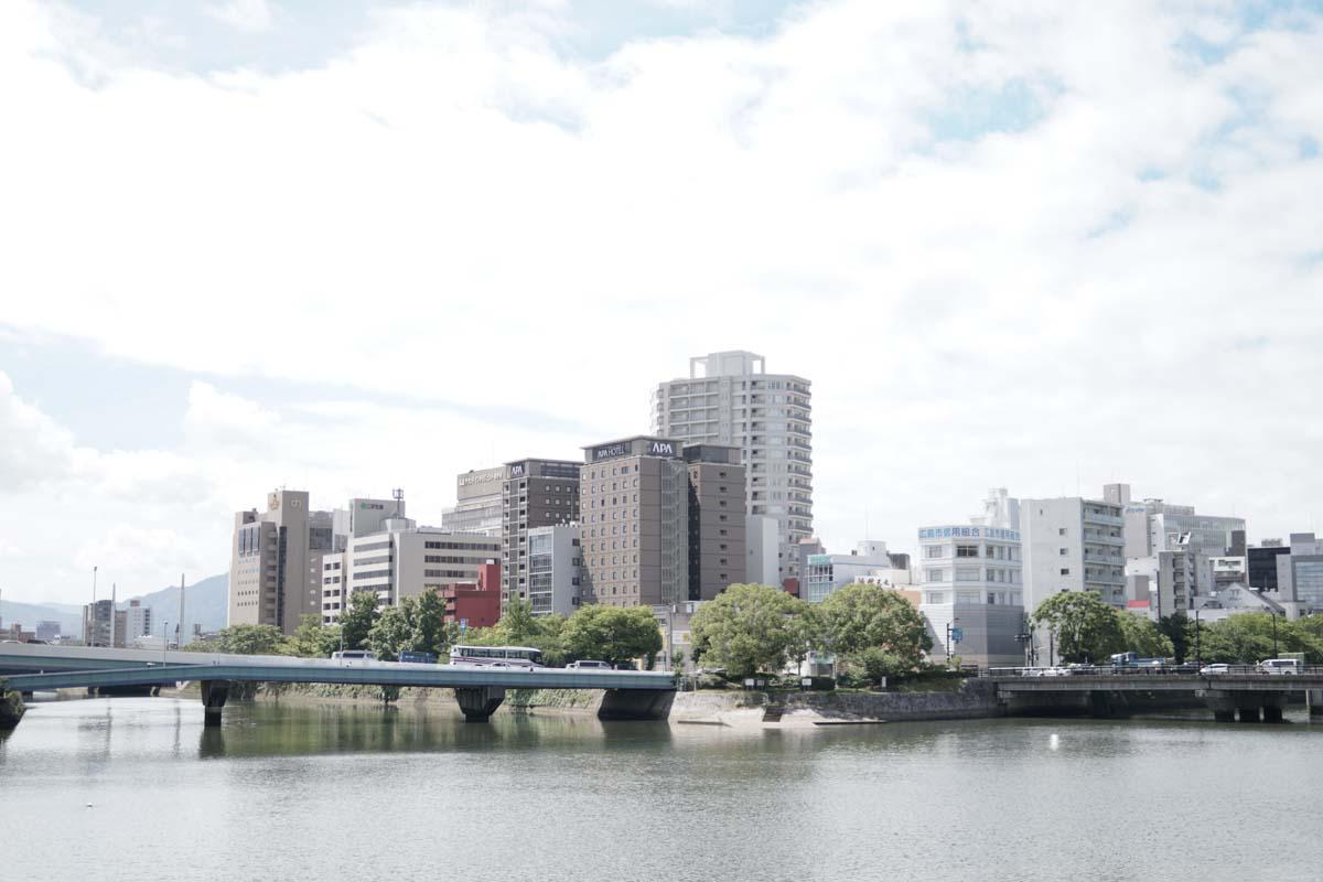 出勤風景(川から見える景色)
