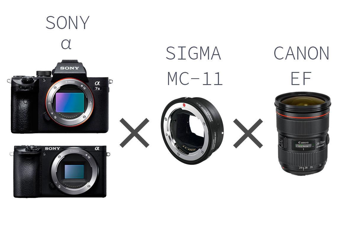 SigmaのMC-11を使うとCANON EFマウントレンズが使える