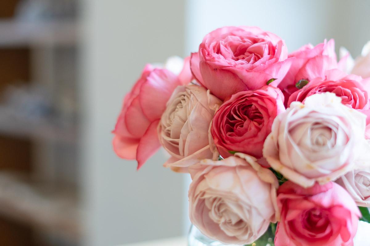 テーブルの薔薇