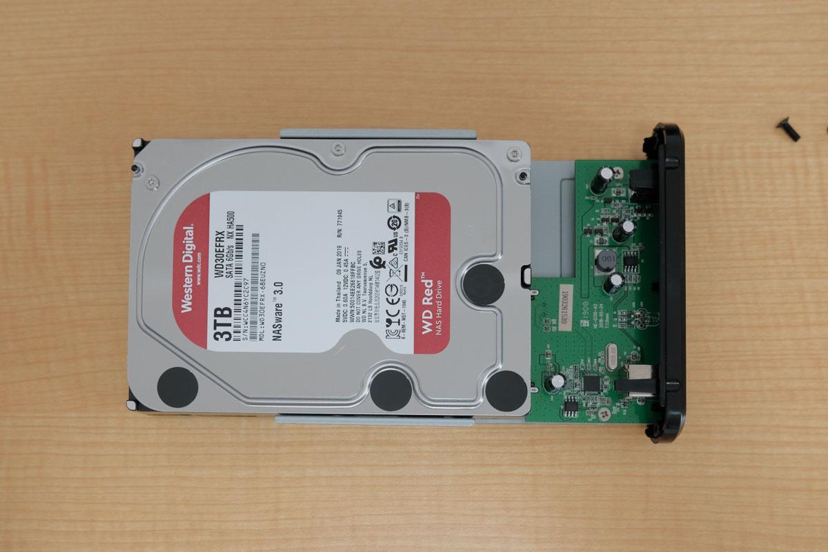 HDDを接続する