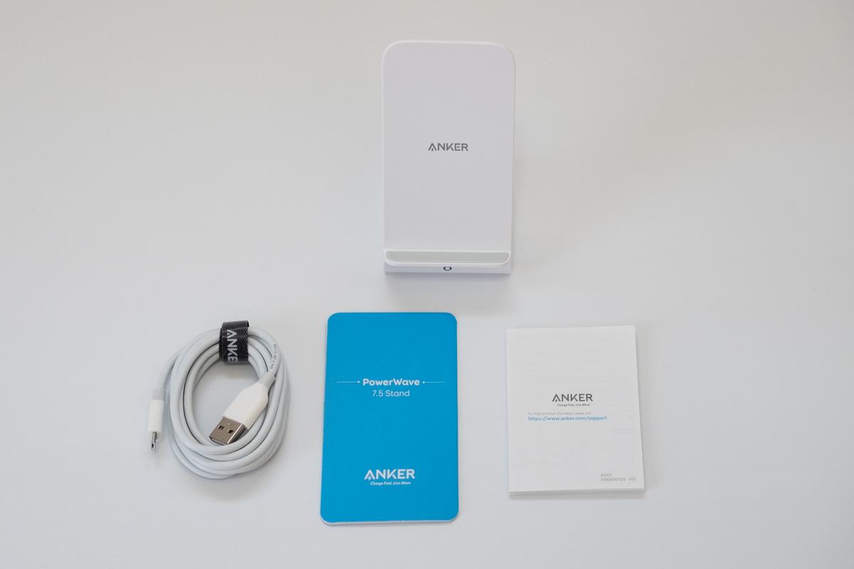 Ankerワイヤレス充電器の商品内容