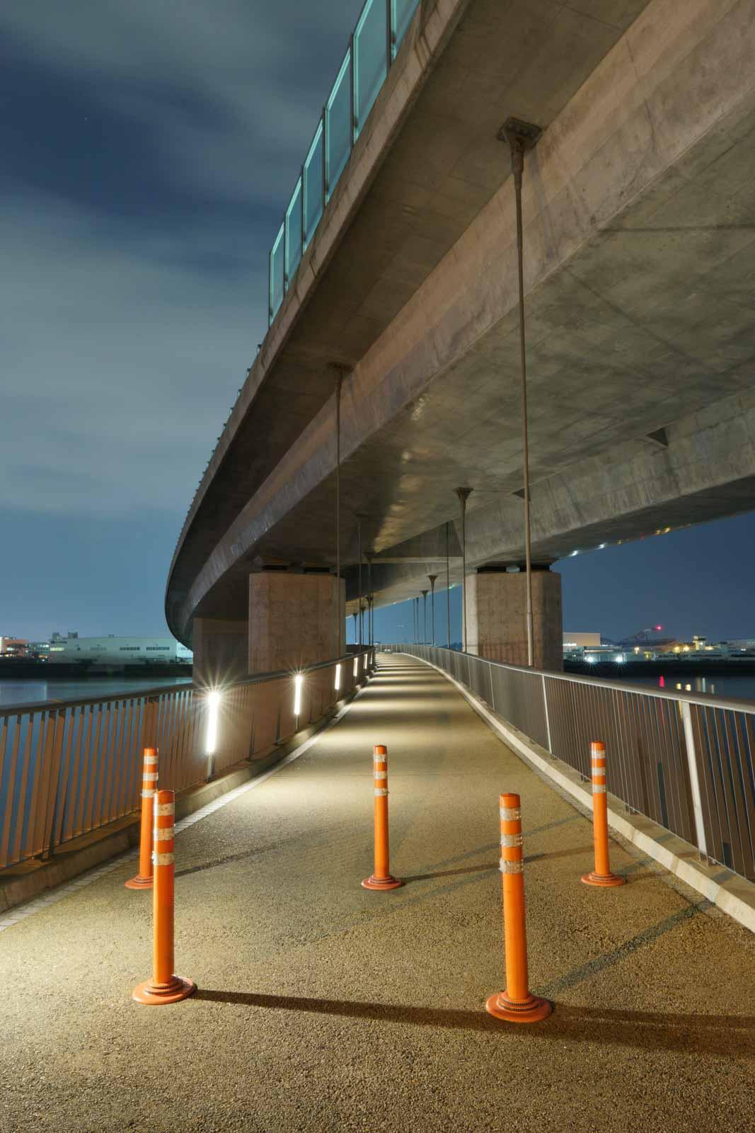 太田川大橋(LECT側に着いた)