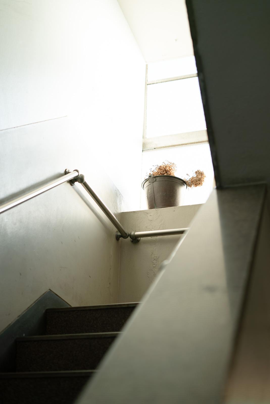 ビルの階段